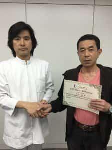 上原宏先生と握手