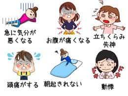 起立性調節障害の症状
