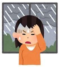 梅雨時の頭痛