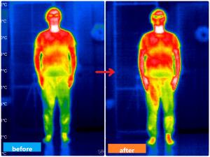 赤外線サーモグラフィー男性