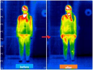 体温サーモグラフィーの画像